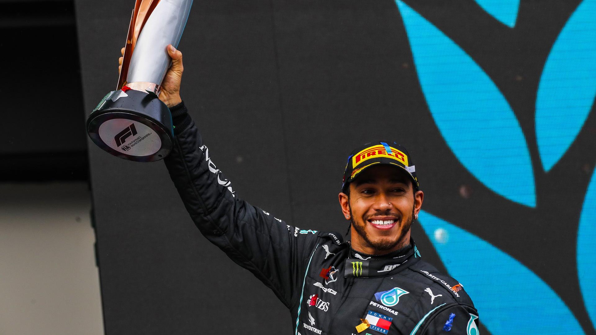 Mercedes-AMG's Lewis Hamilton at the 2020 Formula One Turkish Grand Prix