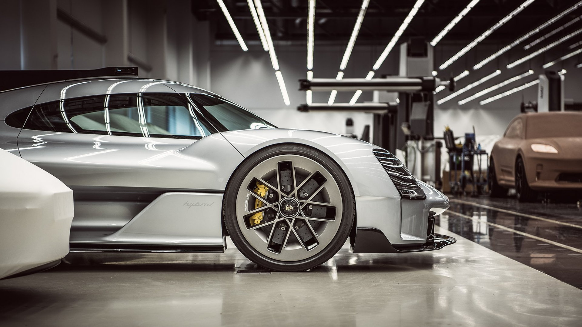 Porsche 919 Street and possible clay model for electric Porsche Macan