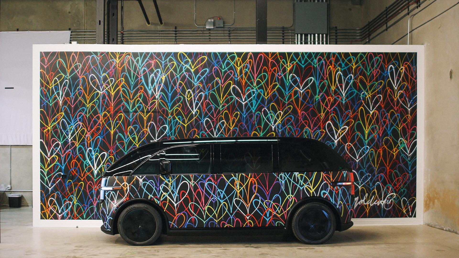 JGoldcrown mural for Canoo Canvas wrap program