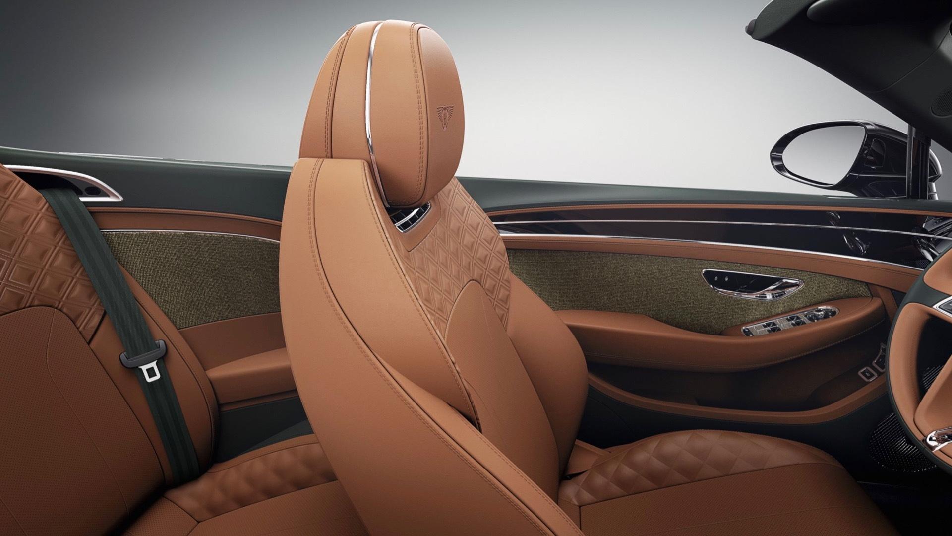 Bentley tweed interior