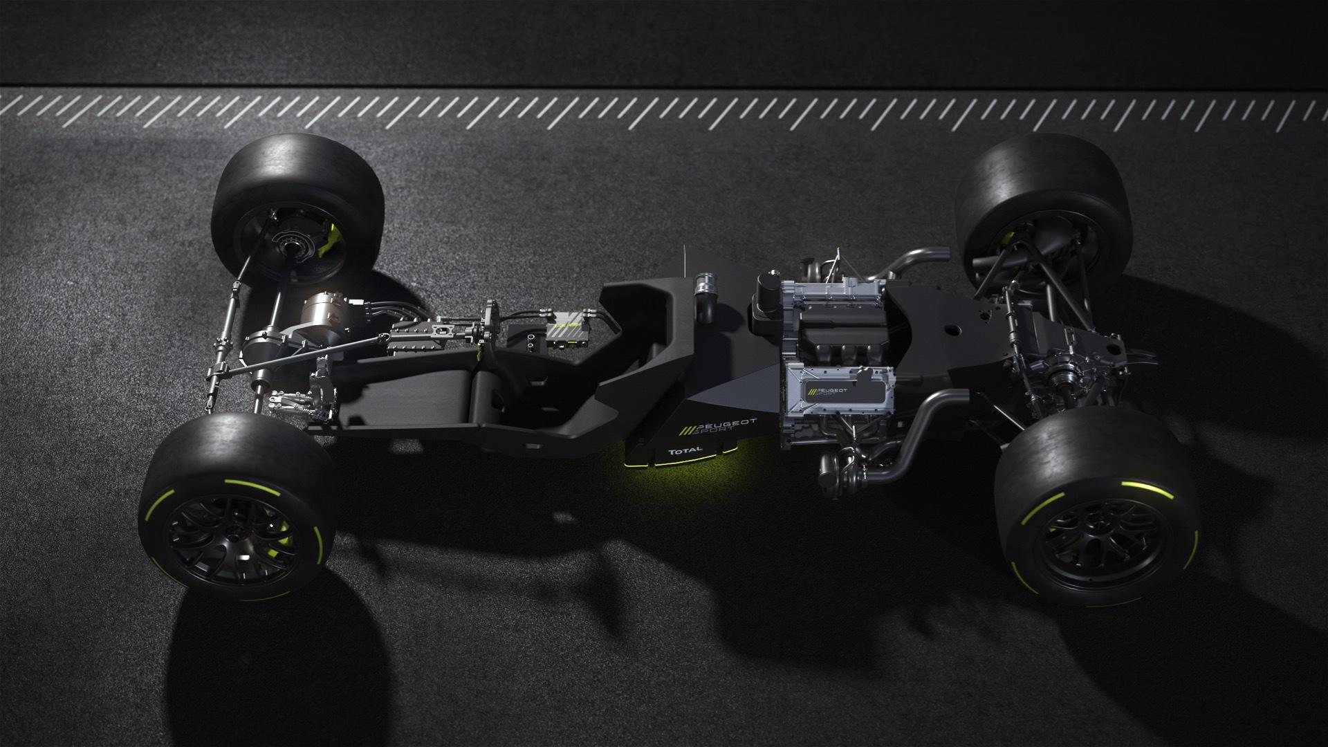 2022 Peugeot 9X8 Le Mans Hypercar race car