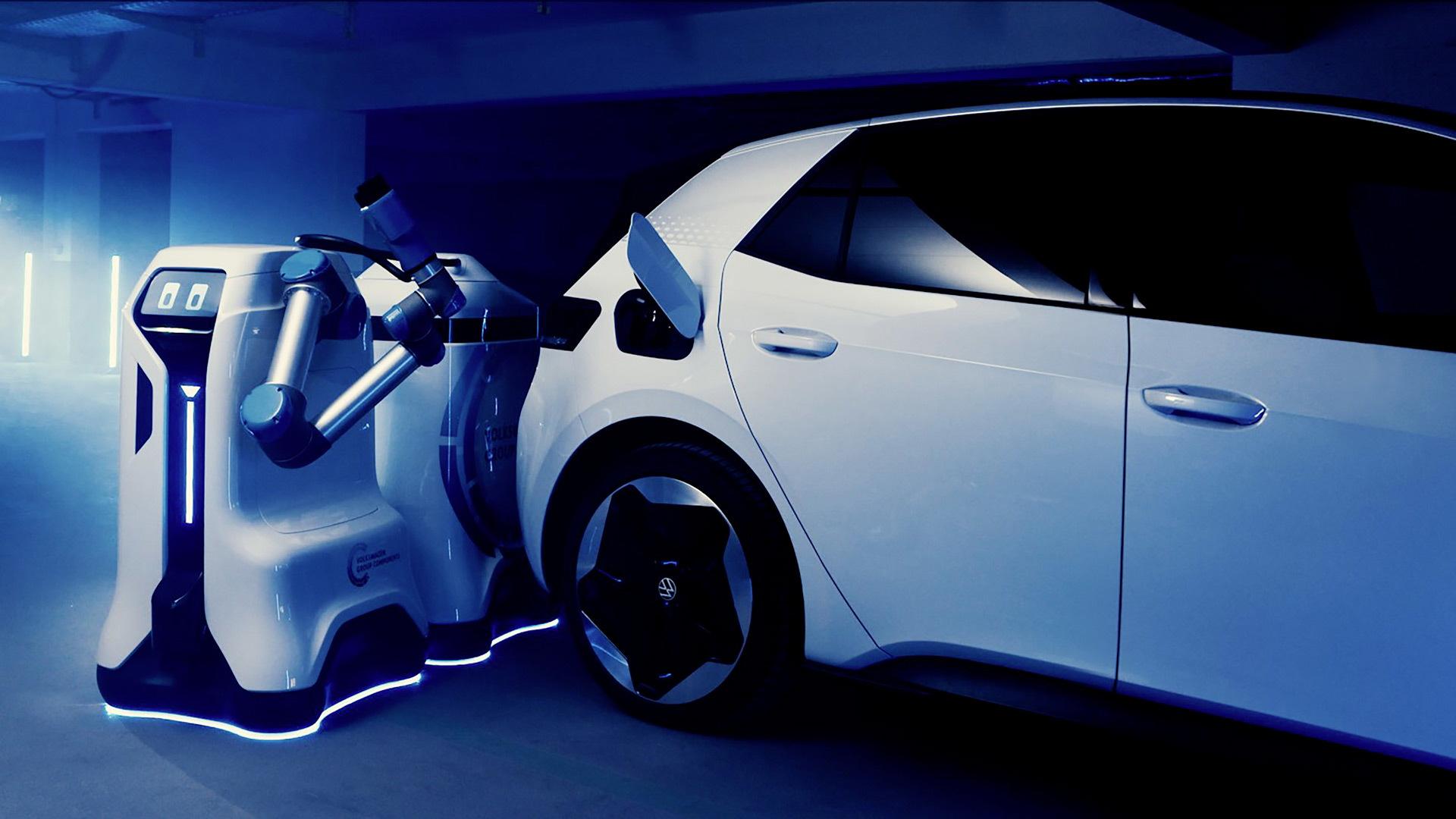 Volkswagen mobile robot charging prototype
