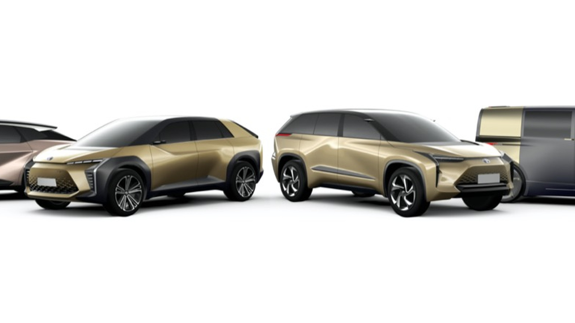 Toyota future electric vehicle designs  -  2019