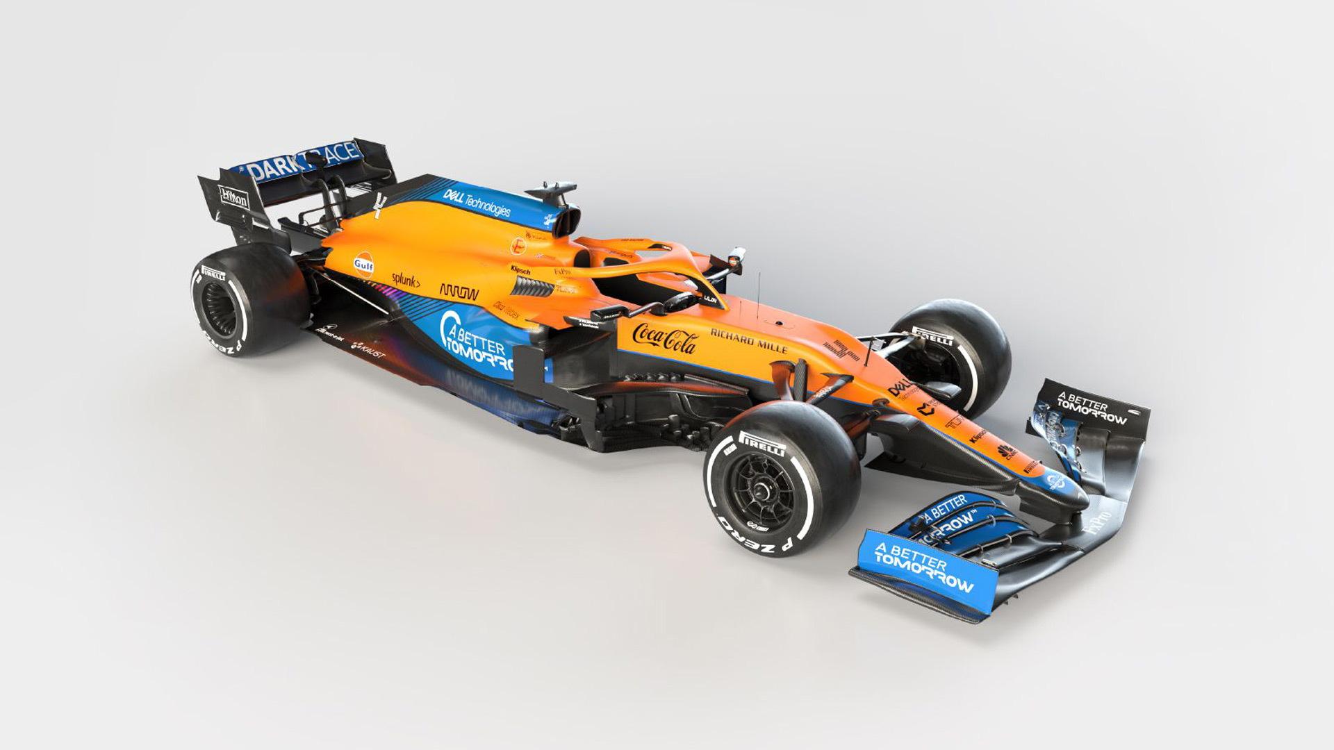 2021 McLaren MCL35M Formula One race car
