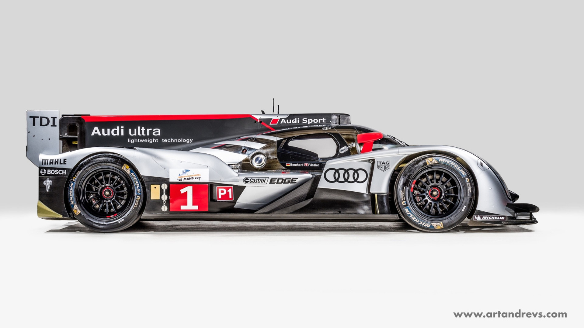 2011 Audi R18 TDI Ultra LMP1 race car - Photo credit: Art & Revs