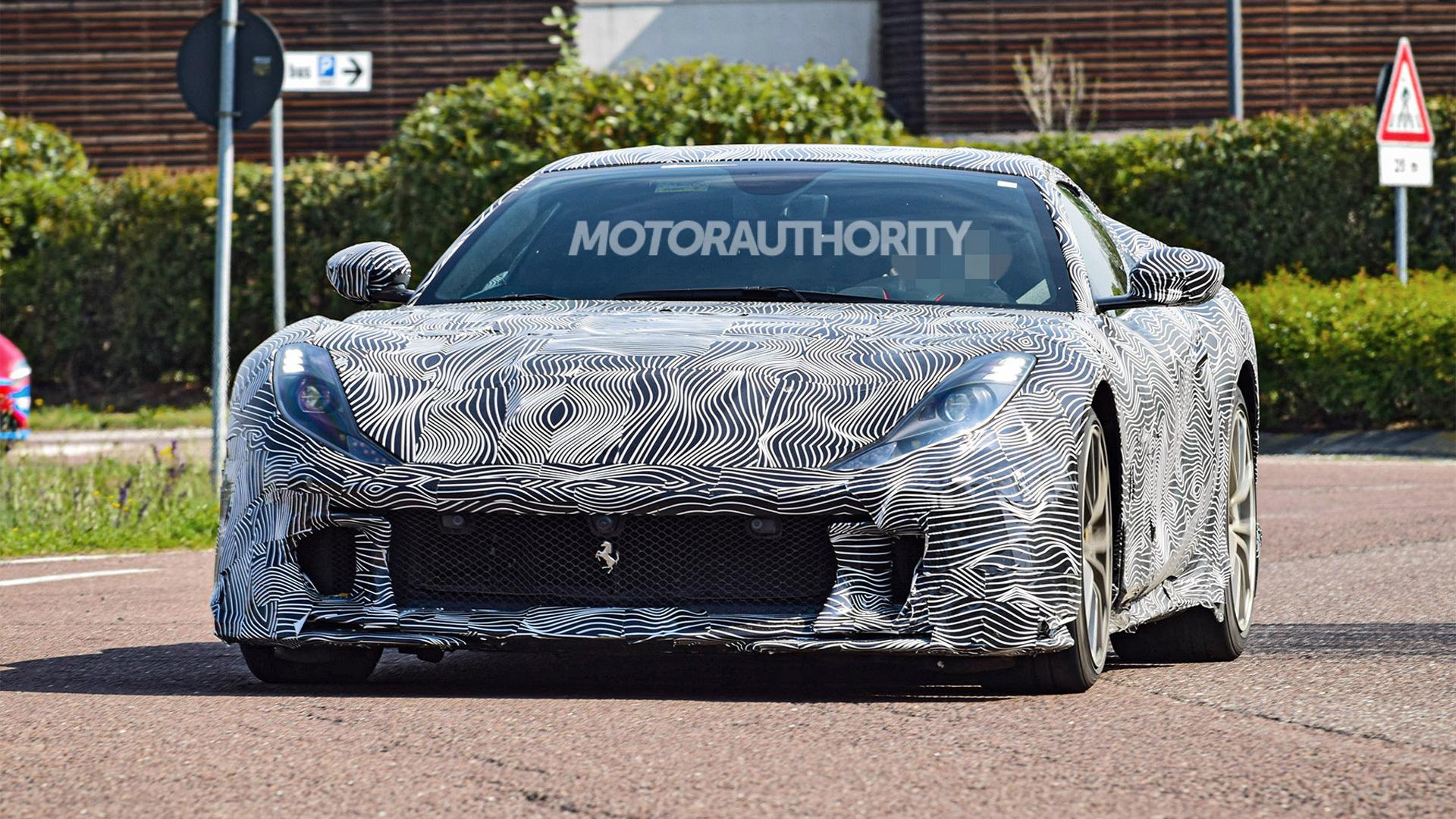 2022 Ferrari 812 GTO (Versione Speciale) spy shots - Photo credit:S. Baldauf/SB-Medien