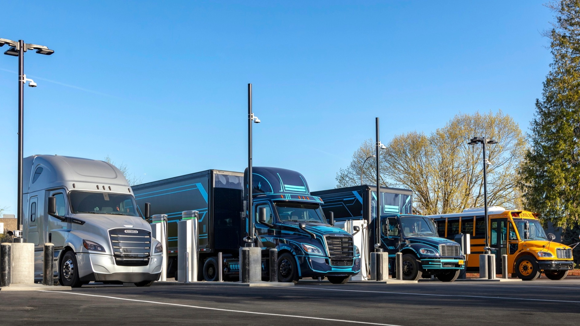 Electric Island  -  Daimler Trucks North America and PGE  -  Portland OR