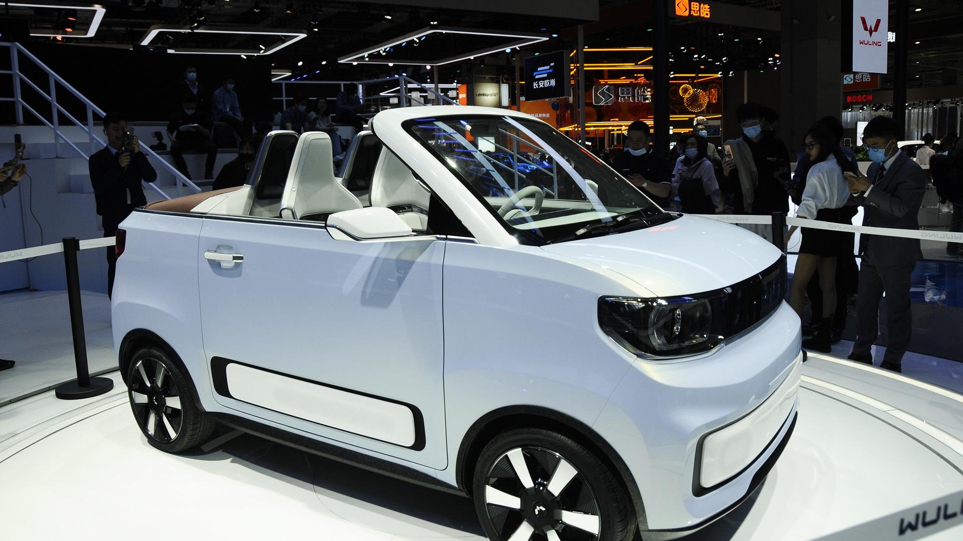 Wuling Hong Guang Mini EV Cabrio concept - 2021 Shanghai auto show