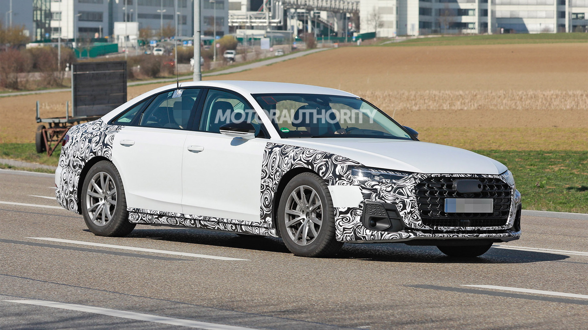 2022 Audi A8 facelift spy shots - Photo credit: S. Baldauf/SB-Medien