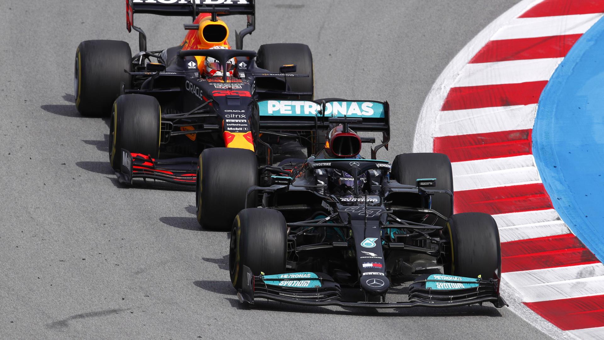 Mercedes-Benz AMG's Lewis Hamilton at the 2021 Formula One Spanish Grand Prix