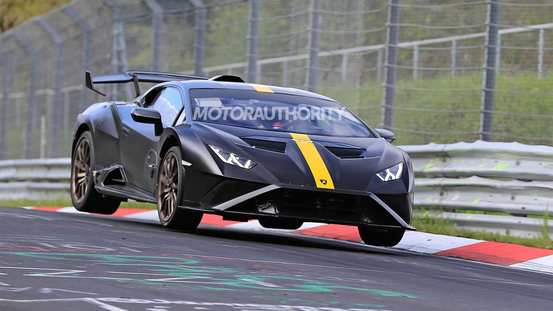 Lamborghini Huracan STO in likely Nürburgring record attempt - Photo credit:S. Baldauf/SB-Medien