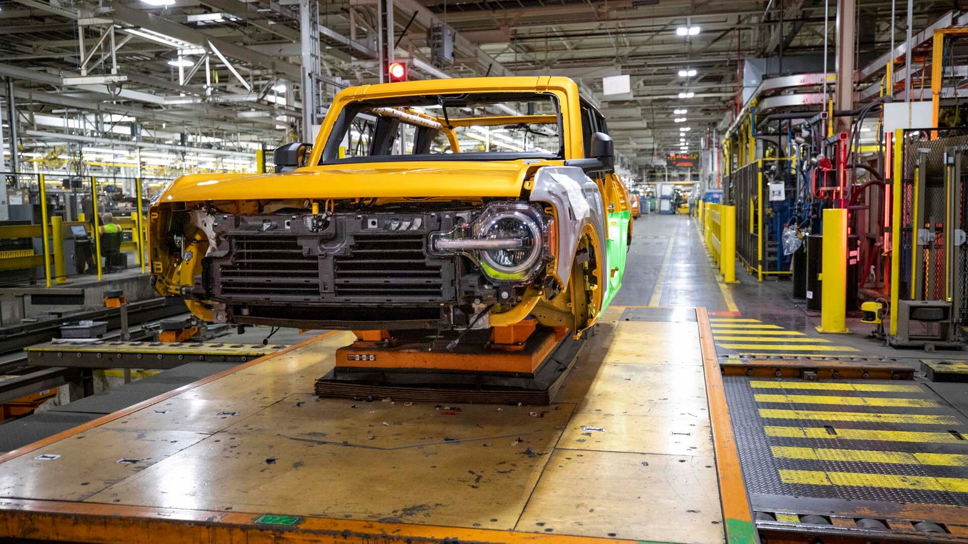 2021 Ford Bronco production starts at Michigan Assembly Plant in Wayne, Michigan