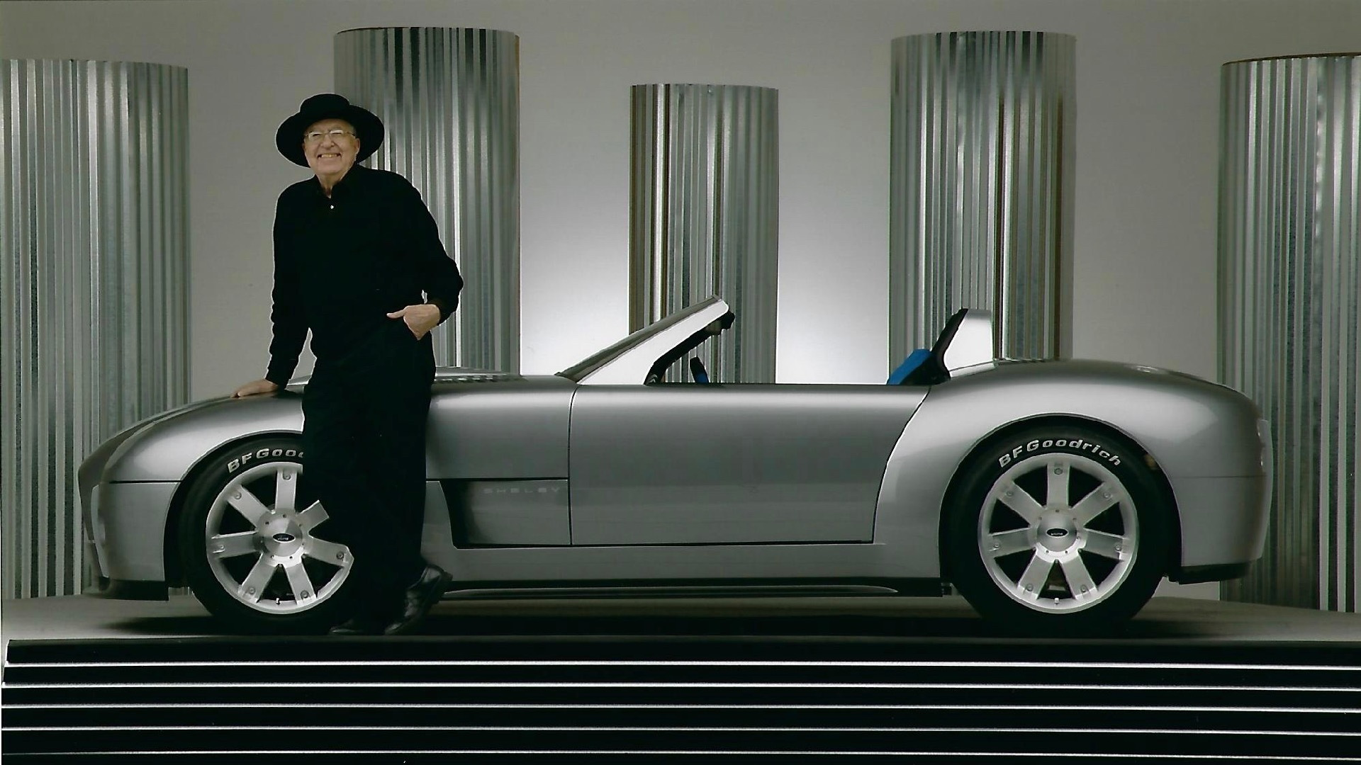 Carroll Shelby and the 2004 Ford Shelby Cobra concept (Photo via Mecum Auctions)