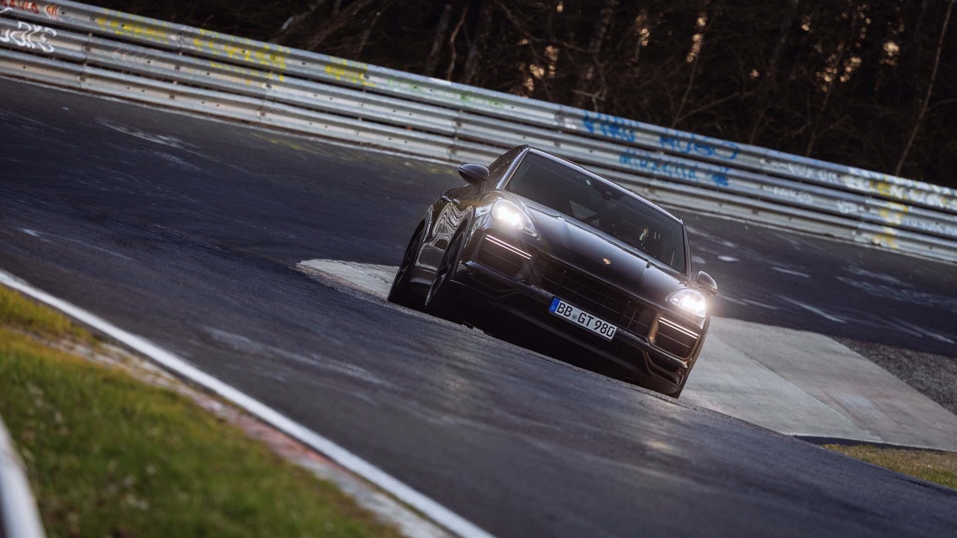High-performance Porsche Cayenne Coupe prototype