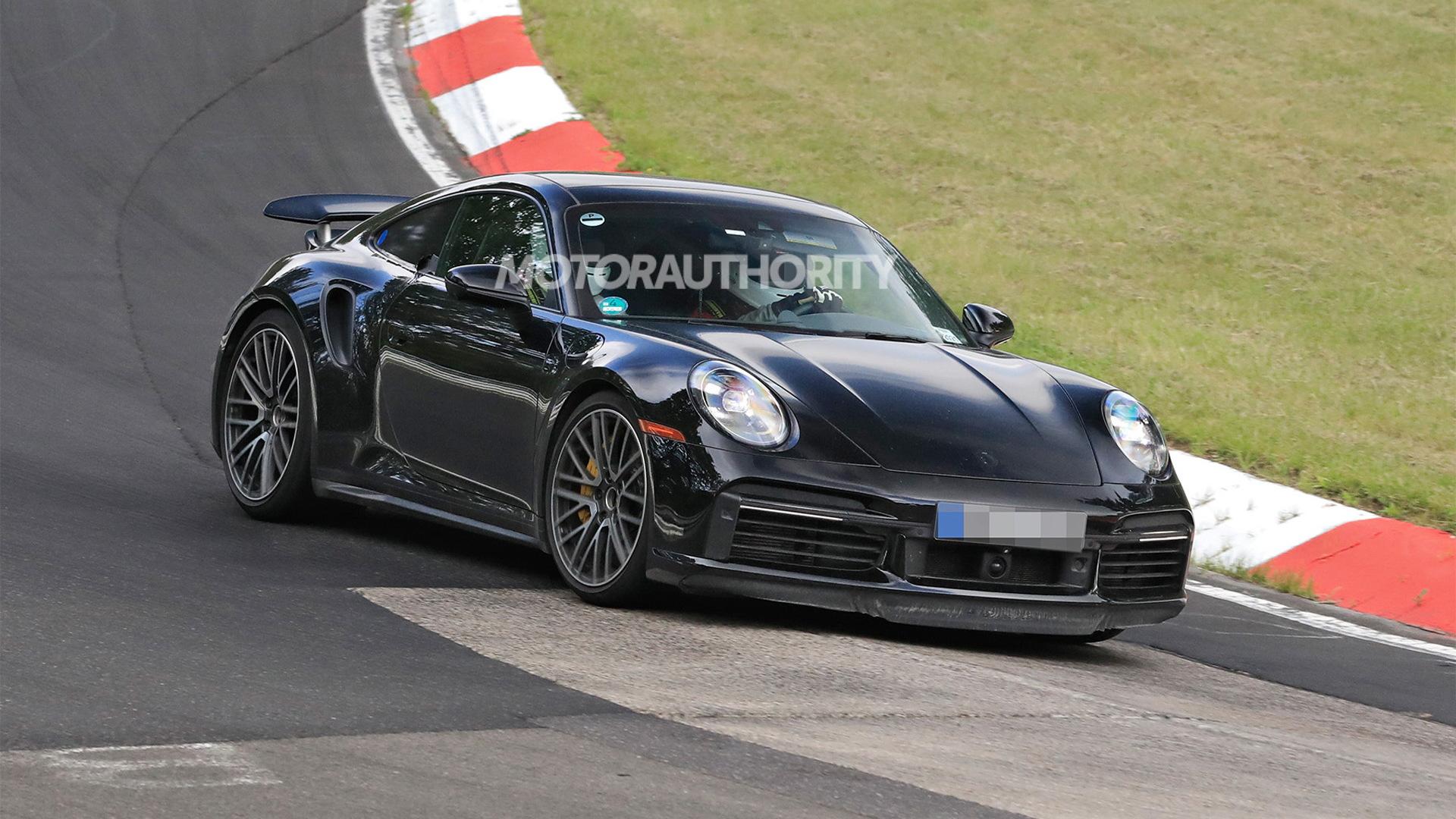 2024 Porsche 911 Turbo S E-Hybrid test mule spy shots - Photo credit:S. Baldauf/SB-Medien