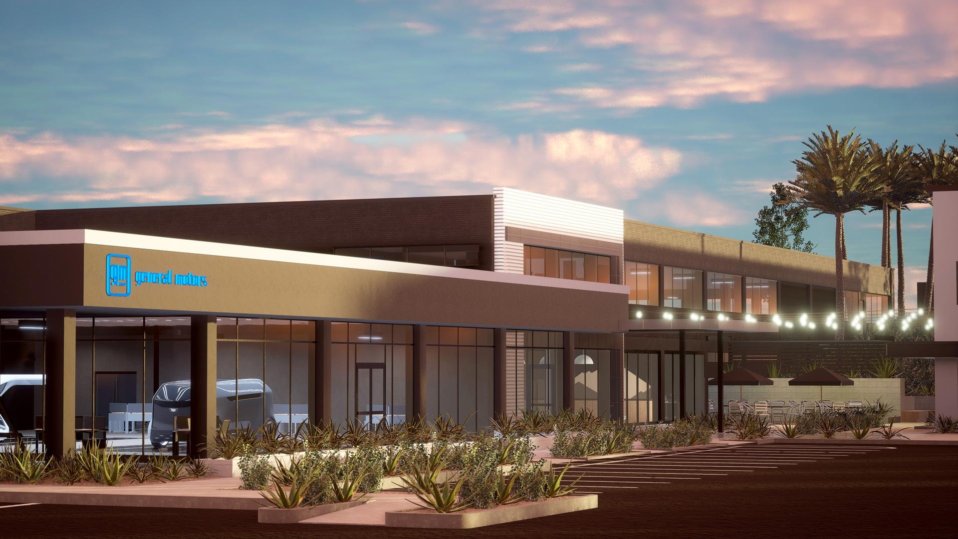 Artist's impression of GM design center to be built in Pasadena, California