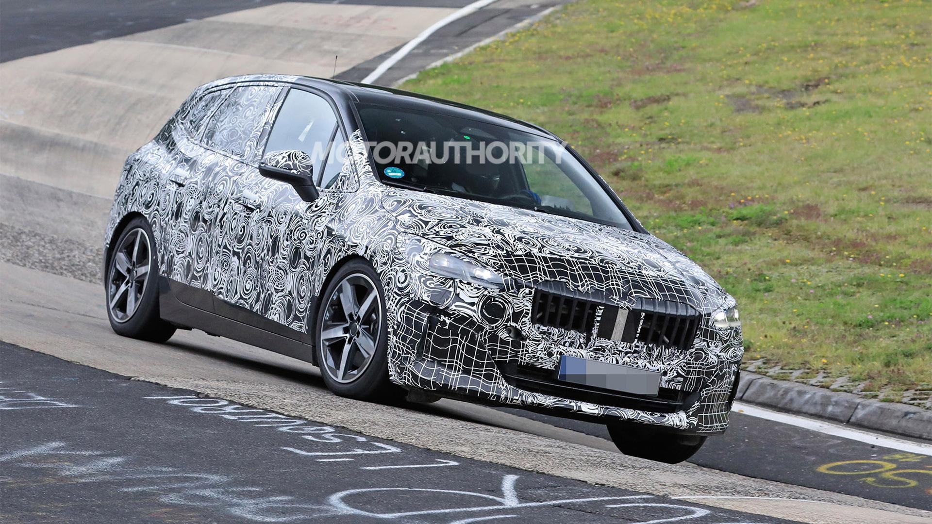 2022 BMW 2-Series Active Tourer spy shots - Photo credit: S. Baldauf/SB-Medien