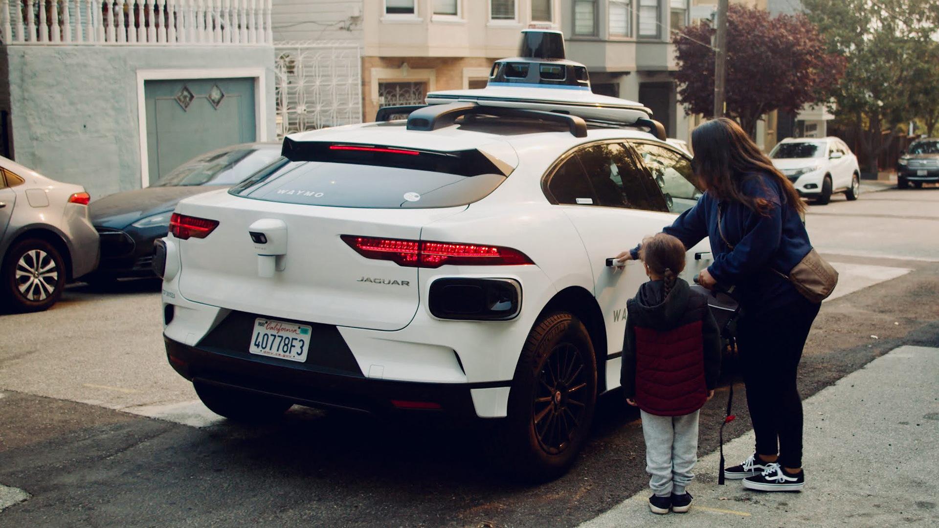Waymo self-driving car prototype in San Francisco, California
