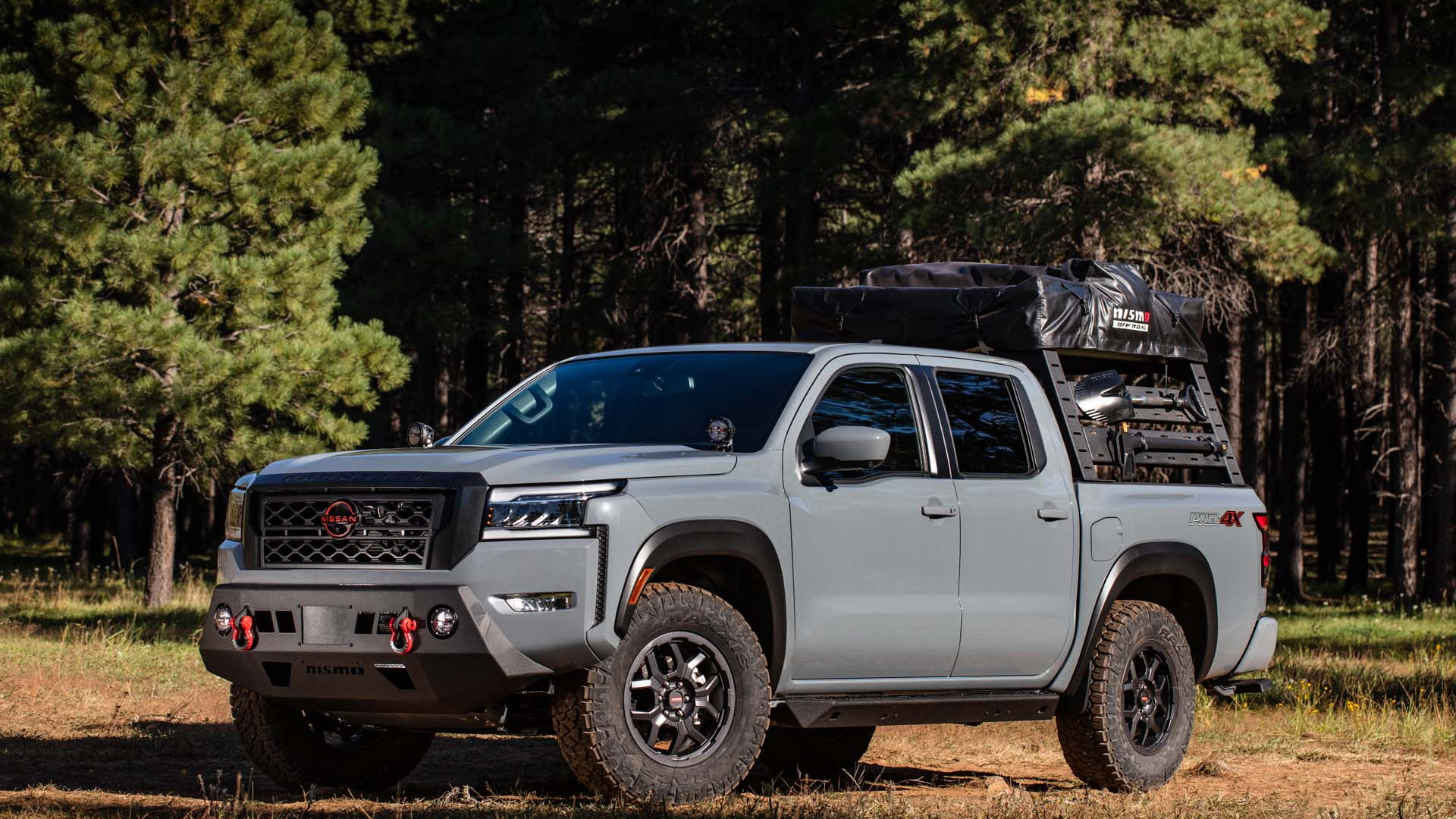 2022 Nissan Frontier equipped with Nismo off-road parts