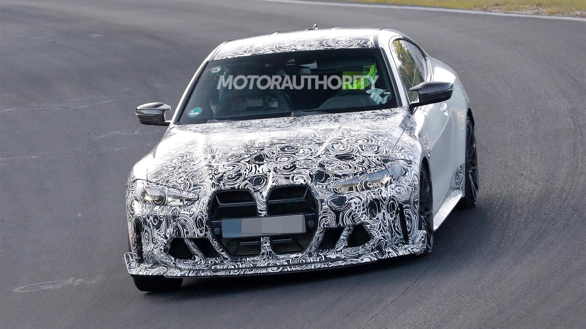 2023 BMW M4 CSL spy shots - Photo credit: S. Baldauf/SB-Medien