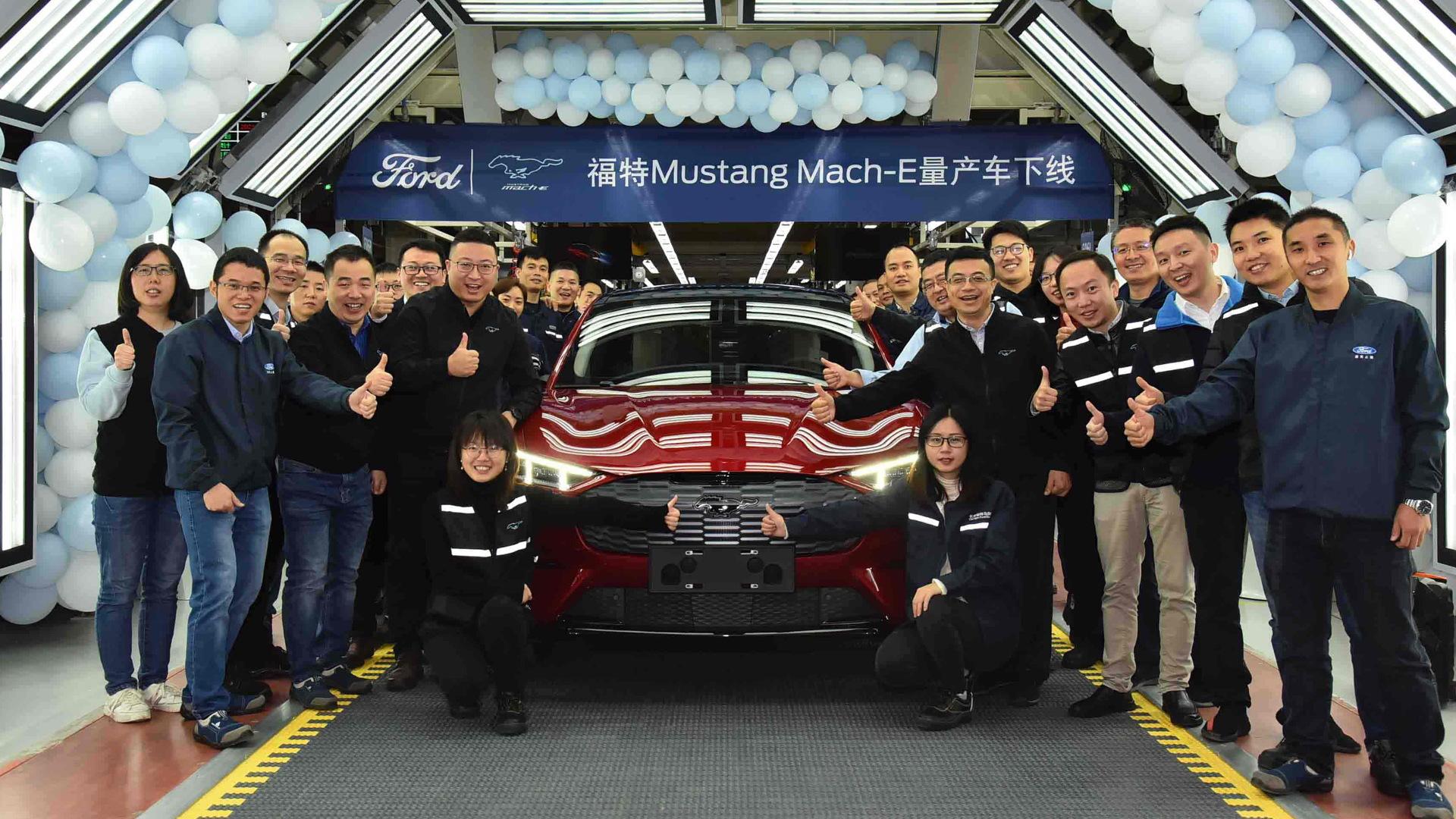 2021 Ford Mustang Mach-E production in Chongqing, China