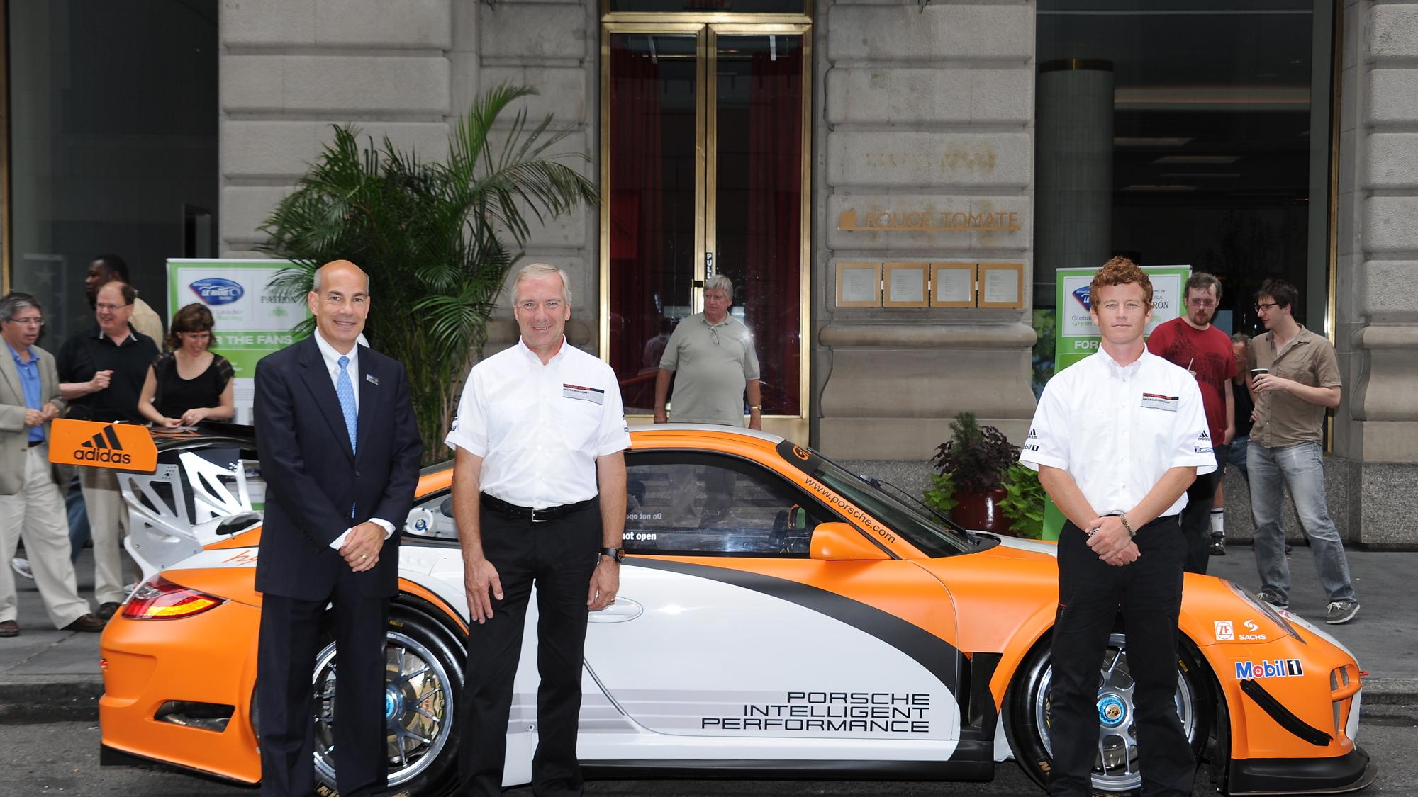 Porsche 911 GT3 R Hybrid; Scott Atherton, ALMS; Paul Ritchie, Porsche; Patrick Long, Porsche driver