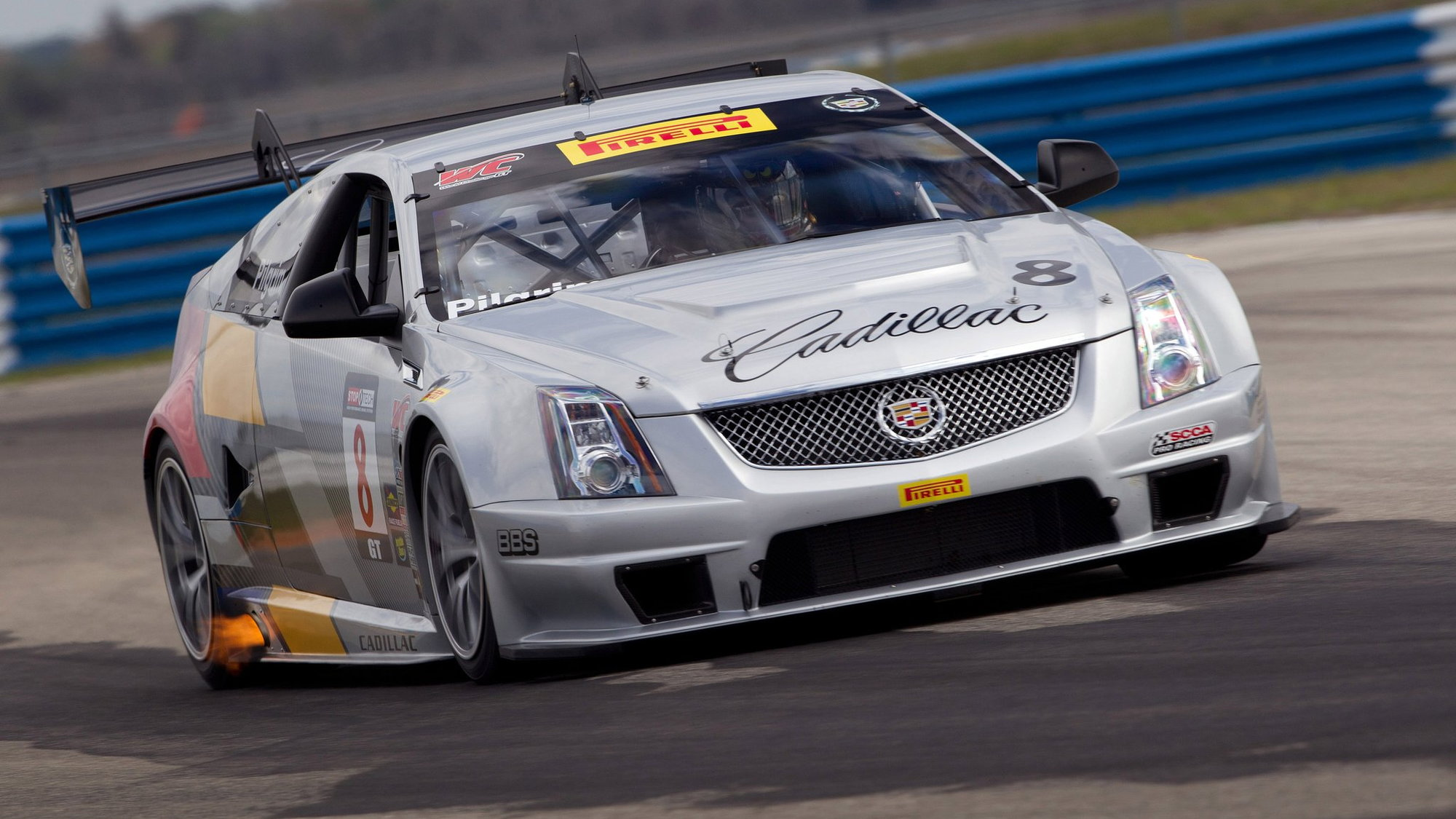 Cadillac CTS-V Coupe race car testing at Sebring