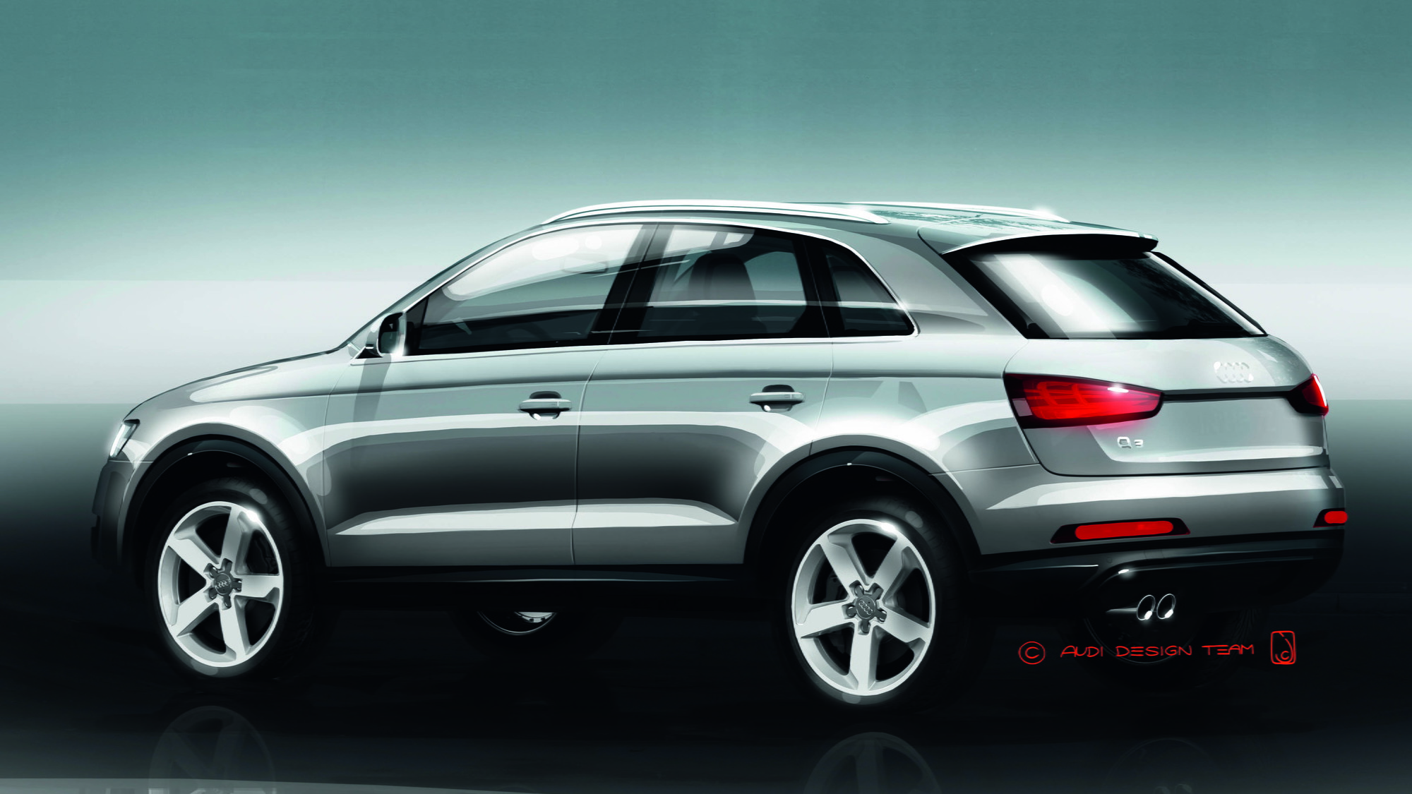 2012 Audi Q3 official sketches