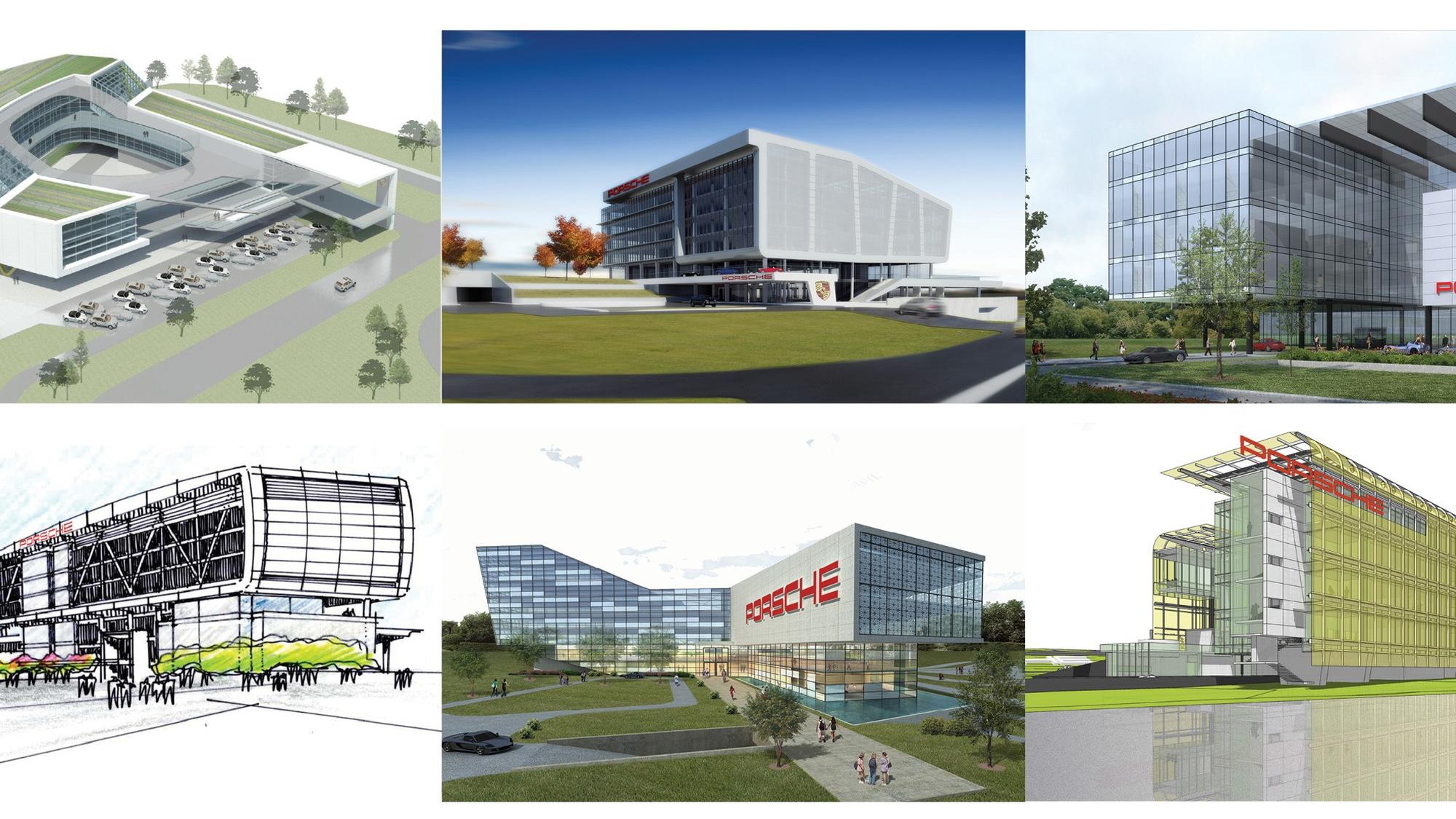 Porsche building designs