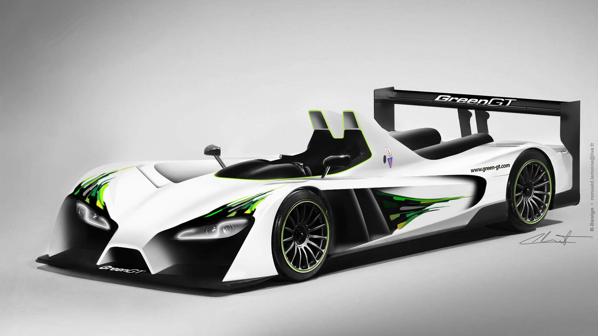 GreenGT LMPH2 hydrogen fuel cell race car
