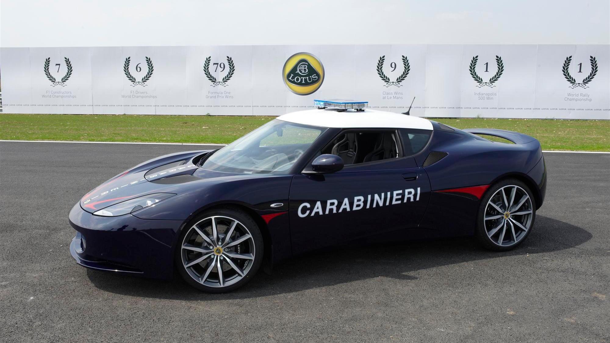 Lotus Evora S enters service with Italian Carabinieri