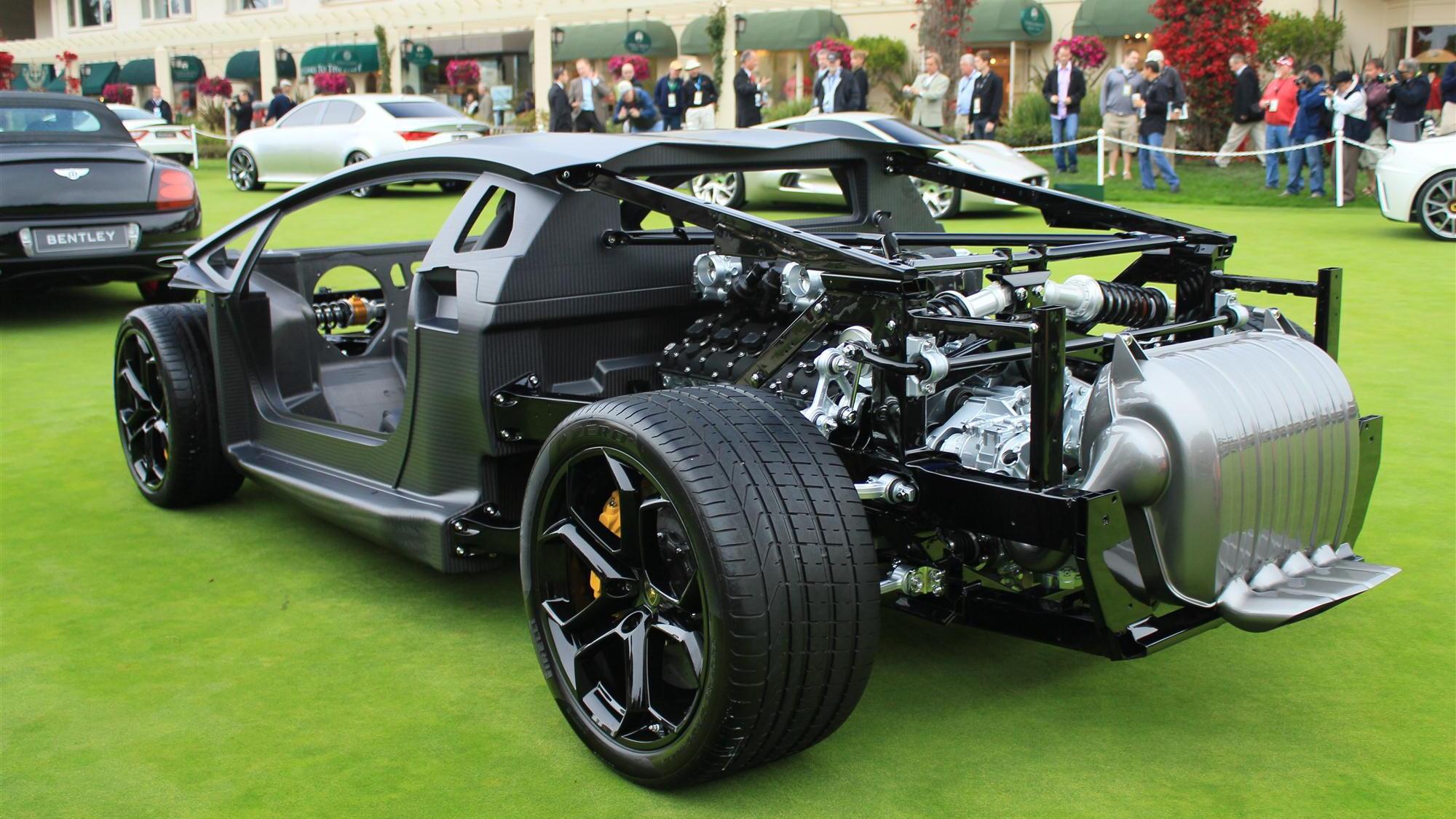 Lamborghini Aventador rolling chassis