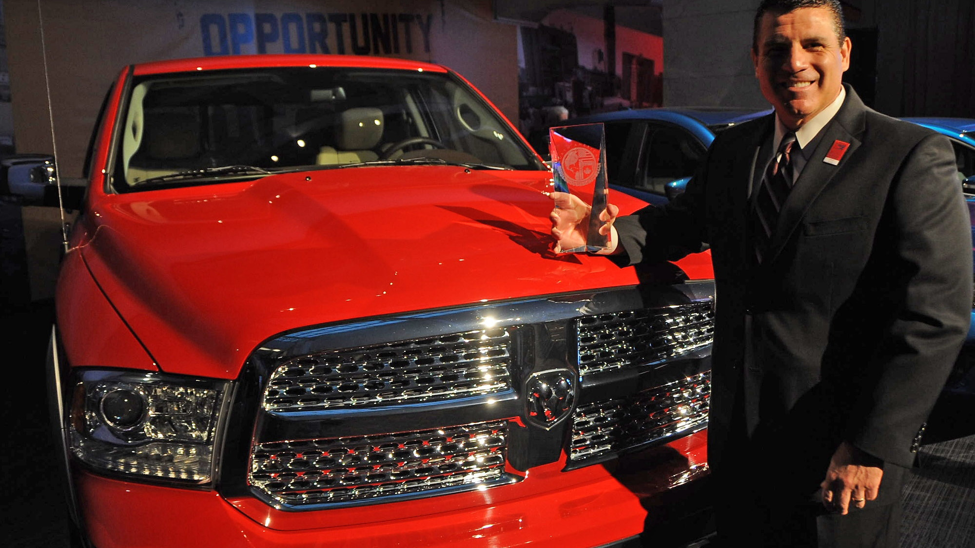 2013 RAM 1500 wins the 2013 North American Truck of the Year Award at the 2013 Detroit Auto Show
