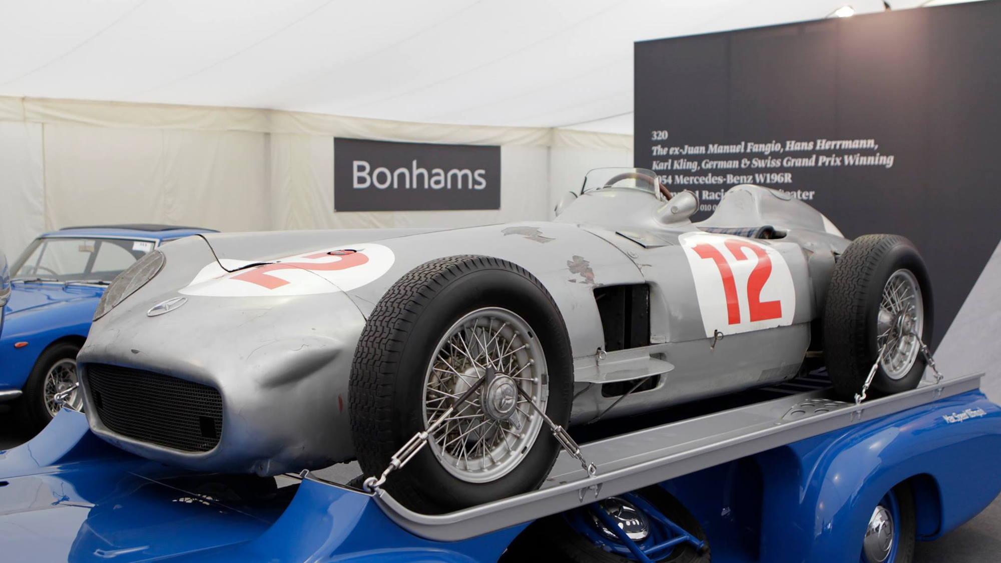 Juan Manuel Fangio's 1954 Mercedes-Benz W196 Formula 1 car sold at auction
