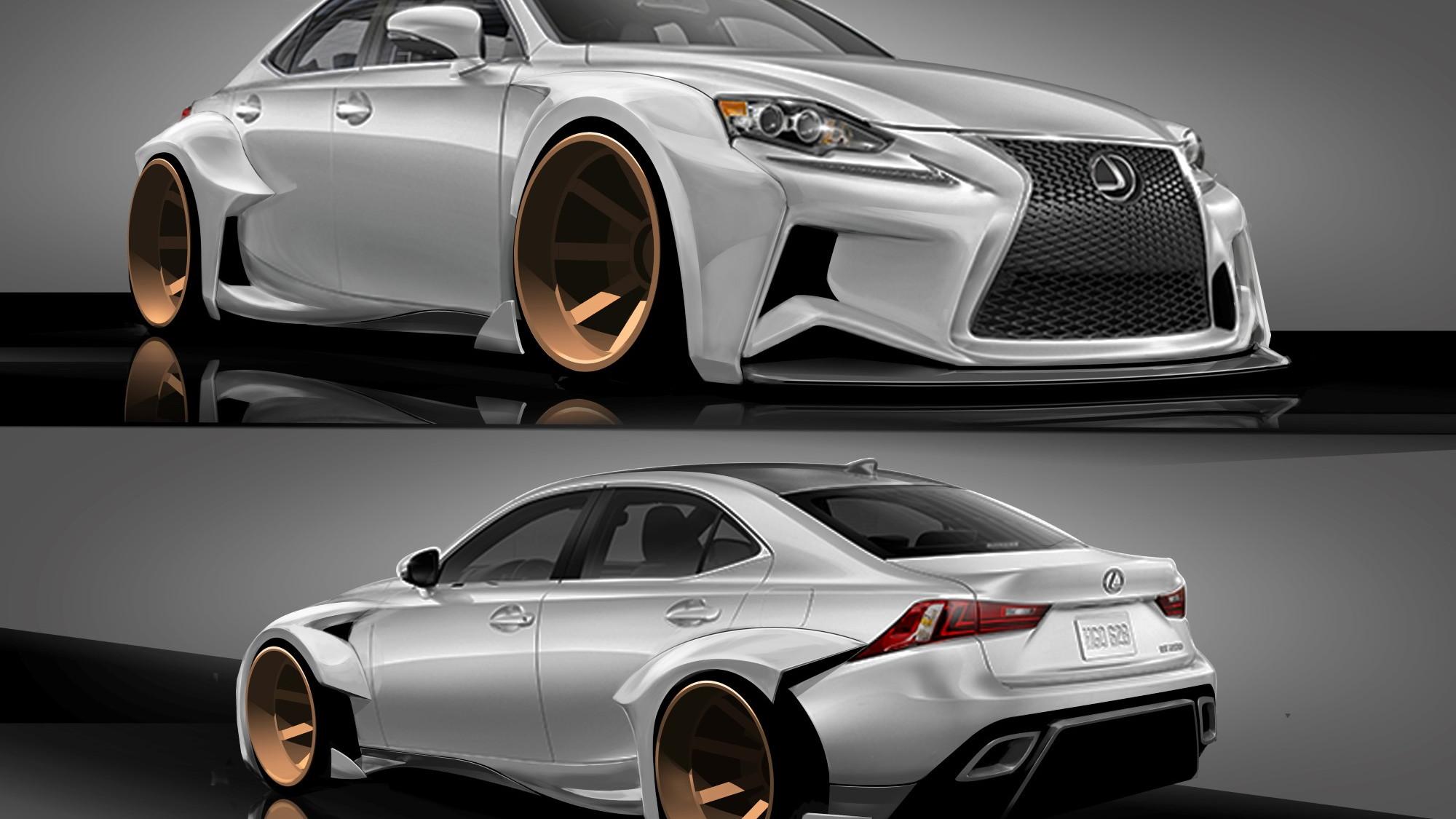 2014 Lexus IS DeviantART SEMA design concept. Winning design by Rob Evans.