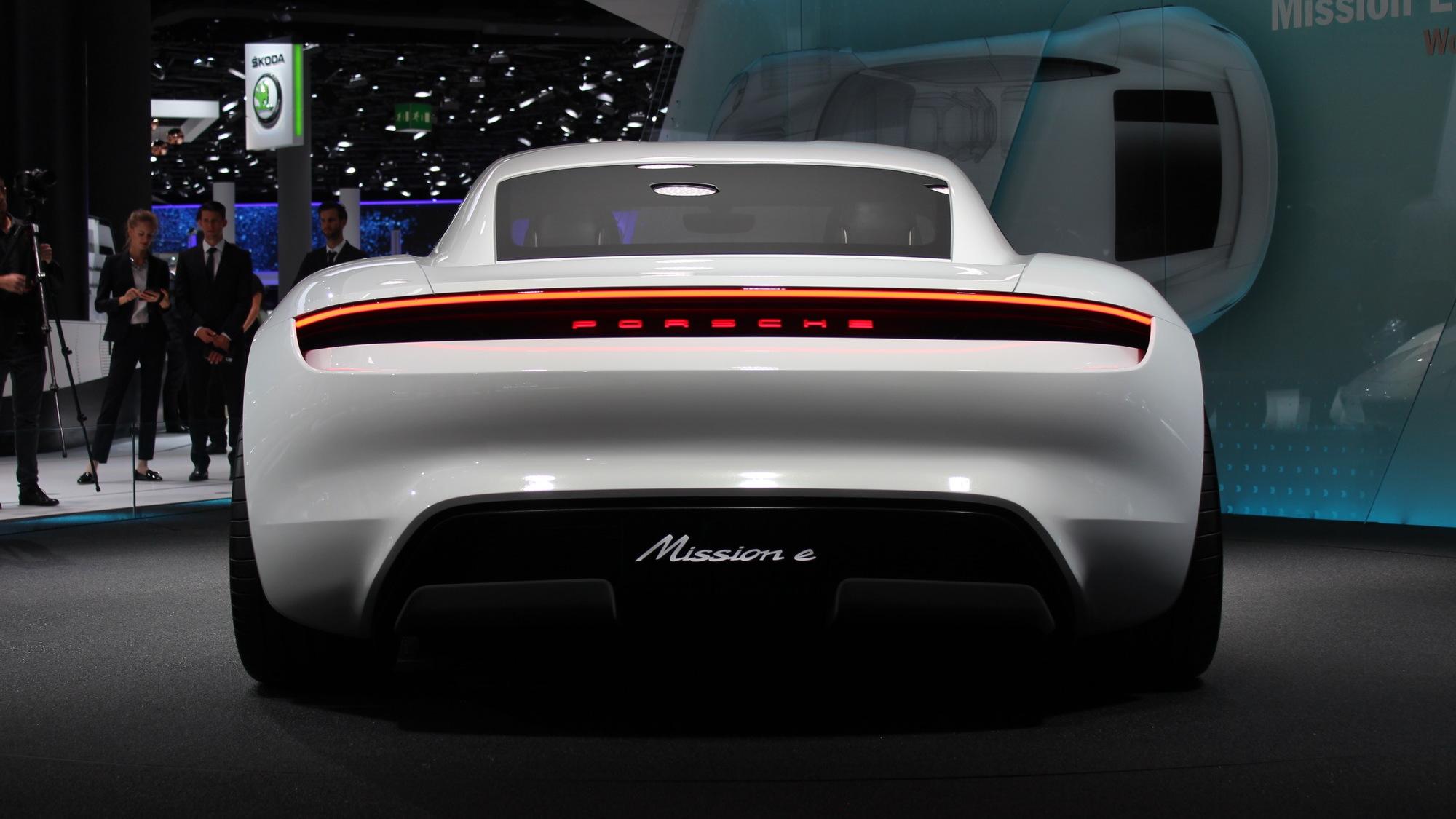 Porsche Mission E Concept  -  2015 Frankfurt Auto Show live photos
