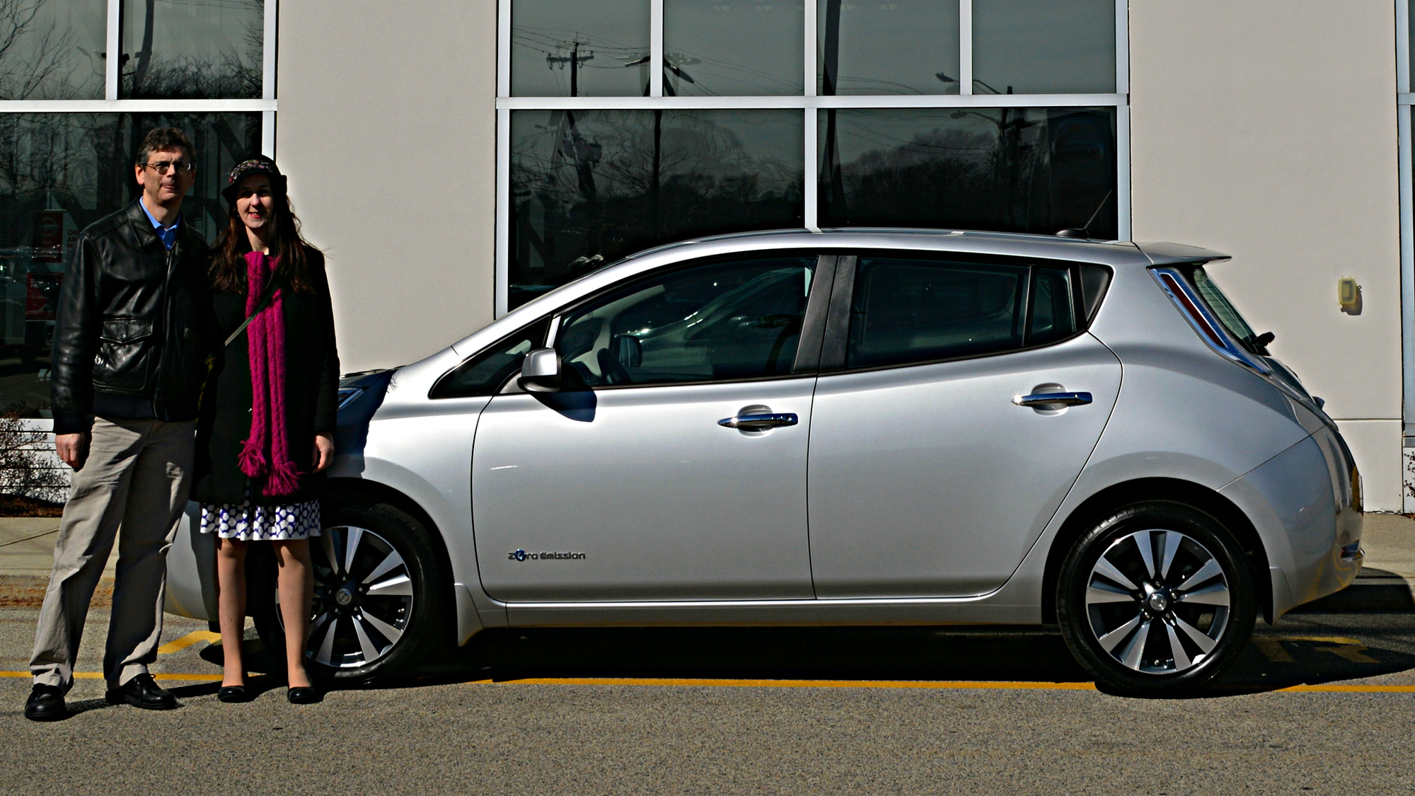 2015 Nissan Leaf at Quirk Nissan, Quincy, MA   [photo: John C. Briggs]