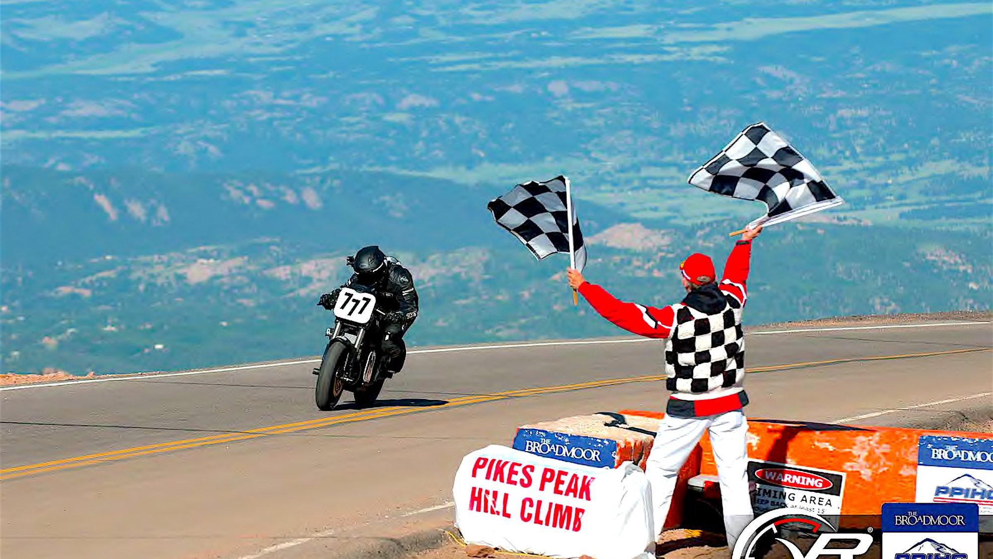 Hollywood Electrics Racing motorcycle, 2014 class winner at Pikes Peak