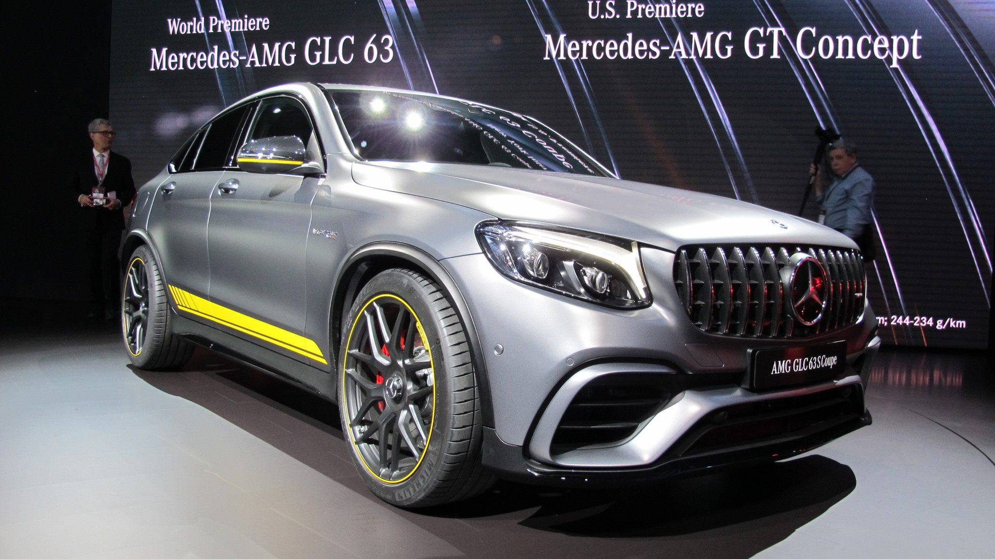 2018 Mercedes-AMG GLC63 Coupe, 2017 New York auto show