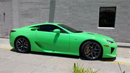2012 Lexus LFA in Fresh Green for sale. Images via duPont Registry