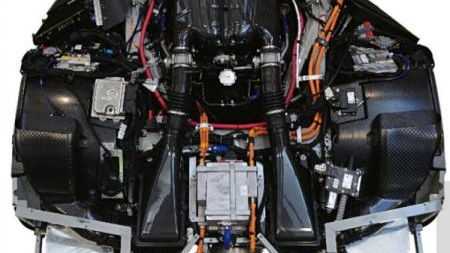 Leaked image from a Ferrari magazine, showing what's believed to be the F70's engine bay
