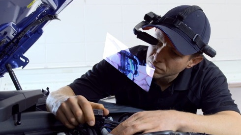 BMW augmented reality smart glasses for technicians