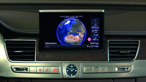 Audi A8 MMI Navigation with Google functionality