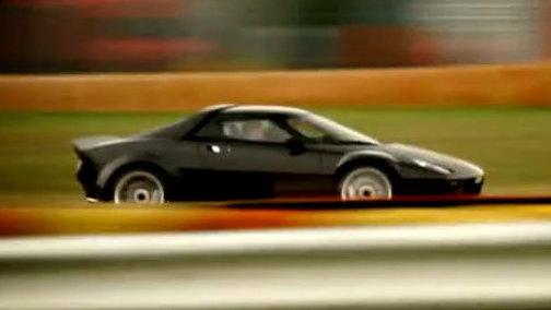 Ferrari president Luca di Montezemolo drives the New Stratos at Fiorano