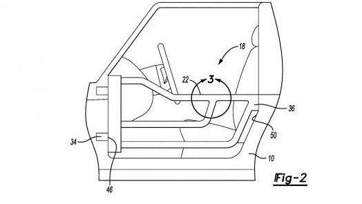 Ford Bronco removable door patent