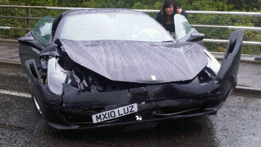 2010 Ferrari 458 Italia crash