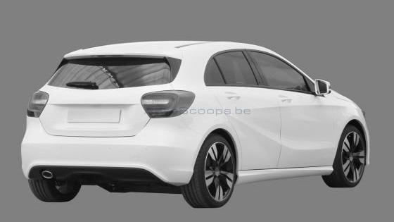 Leaked Mercedes-Benz A-Class patent renderings. Images via Autoscoops.be.