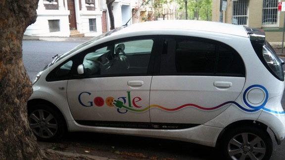 Google-liveried 2012 Mitsubishi i