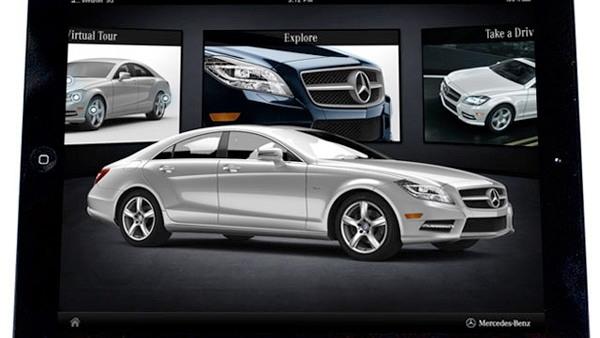 2012 Mercedes-Benz CLS-Class Apple iPad app