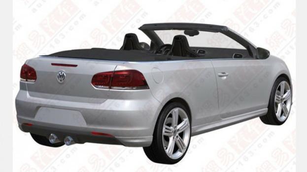 Volkswagen Golf R Cabrio patent photos